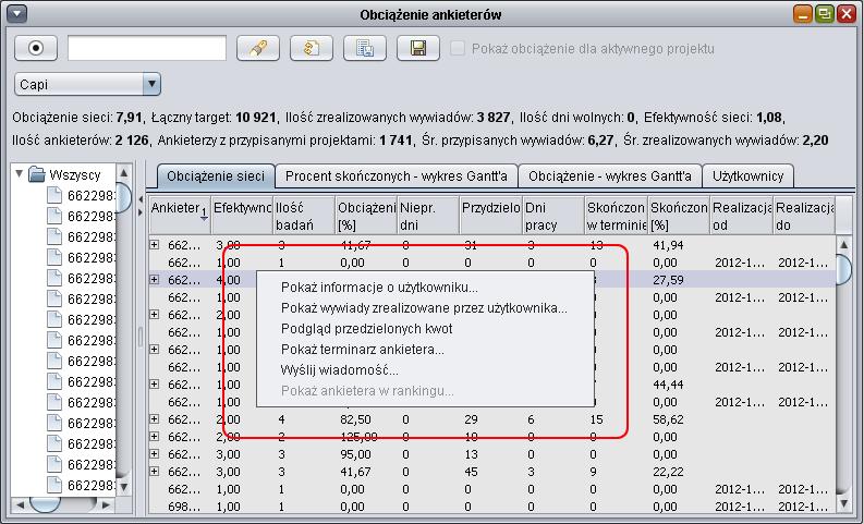 Cadas software pomoc capi opcje wykres gantta uytkownik moe podejrze informacje o wybranym uytkowniku dokona sprawdzenia zrealizowanych wywiadw przez danego ankietera przej do podgldu kwot ccuart Choice Image